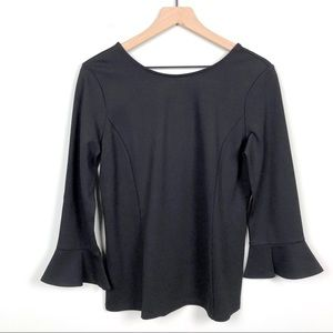 Talbots | NWT Black Bell Sleeve Blouse Size S